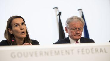 Sophie Wilmès, ministre fédérale du Budget, et Francois Bellot, ministre fédéral de la Mobilité.