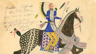 Sioux Indian Drawing. Ayer Art Sioux Indian Drawings ft. Yates, #149.
