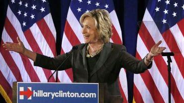 La candidate à l'investiture démocrate Hillary Clinton lors d'un discours à New York le 24 juillet 2015