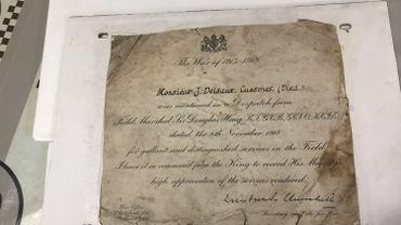 Un document signé Winston Churchill