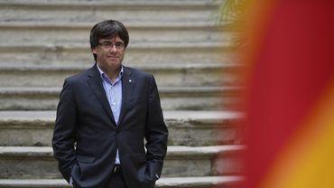 L'indépendantiste catalan Carles Puigdemont à Gérone, en Espagne, le 30 septembre 2017