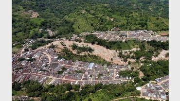 Image diffusée le 23 mai 2011 d'Un glissement de terrain à San Vicente de Chucuri, en Colombie