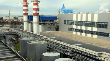 Vue d'une centrale thermique Gazprom sur les bords de la mer Noire, à Sotchi, en novembre 2013