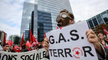 Une manifestation contre la législation sur les sanctions administratives communales (SAC) à Bruxelles