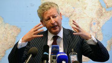 Le ministre de la Défense, Pieter De Crem, lors d'une conférence de presse jeudi dernier au siège de l'OTAN à Bruxelles