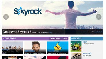 La page d'accueil de Skyrock.com, qui héberge la plate-forme Skyblog.