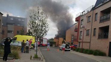 Le sinistre a eu lieu Place du Plat Pays, à Louvain-la-Neuve.