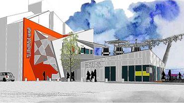 Les formes, les matériaux et les couleurs de la station de base du téléphérique seraient mal intégrées au quartier du vieux Namur.