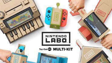 """""""Nintendo Labo"""", un hybride qui mêle travaux manuels, jeu et expérimentation."""