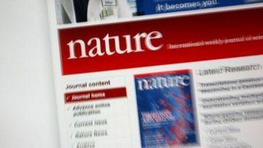 Page d'accueil du site web de Nature