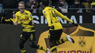 André Schürrle a porté 51 fois le maillot de Dortmund (ici en 2018 avec Michy Batshuayi)