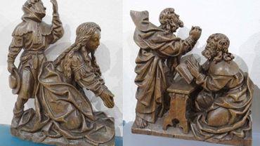 Les statues du 16ème siècle faisait partie d'un retable en bois