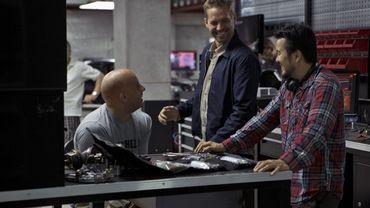 """Vin Diesel, Paul Walker et Justin Lin, réalisateur sortant, sur le tournage de """"Fast & Furious 6"""""""