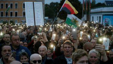 L'extrême droite allemande s'est à nouveau rassemblée le 30 août 2018 à Chemnitz contre la politique migratoire d'Angela Merkel