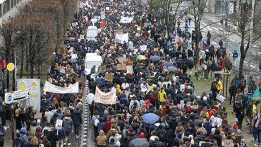 Ils étaient plus de 12.000 il y a quelques jours à manifester pour le climat à Bruxelles