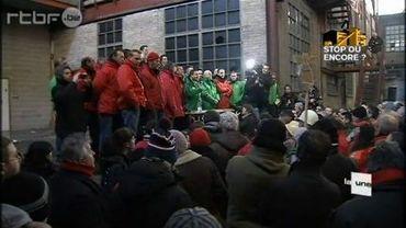Rassemblement d'ouvrier en colère