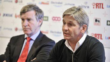 Football: José Riga avec Roland Duchâtelet