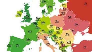 La Belgique reste deuxième au classement des droits LGBT en Europe