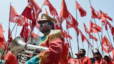 Célébration de la fête des travailleurs à Bangalore en Inde le 1er mai 2018