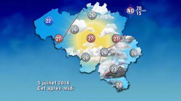 Météo de ce jeudi: des orages toujours prévus en Gaume