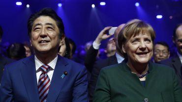 """""""Nous voulons des marchés libres, ouverts, nous voulons évidemment du commerce juste mais nous ne voulons construire aucune barrière"""", a déclaré la chancelière Angela Merkel"""