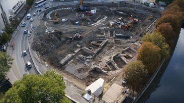 Les fouilles du Grognon permettent de visualiser les limites du quartier tel qu'il existait jusqu'au 19e siècle.