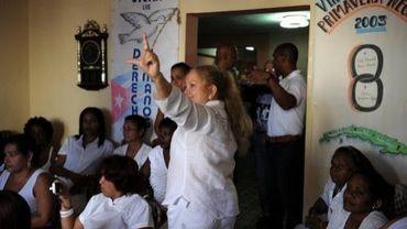 """Les """"Dames en blanc"""", groupe militant pour la libération des 75 dissidents cubains emprisonnés en 2003,le 18 mars 2011 à La Havane"""