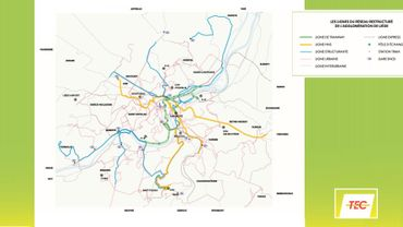 Des tri-bus sur quatre lignes à haut niveau de service (en jaune), ça ne règle pas tout