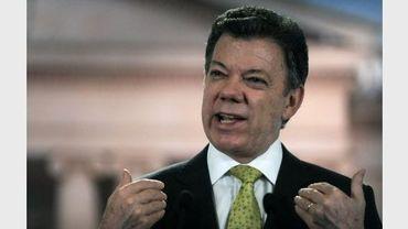 Le président colombien Juan Manuel Santos, le 11 octobre 2011 à Bogota