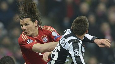 Daniel Van Buyten lors de Juve-Bayern en Ligue des Champions