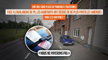 A Trazegnies, les habitants d'une rue refusent de payer leur PV