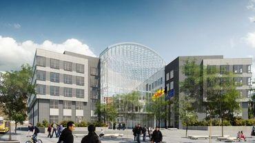 La maquette du futur Palais de Justice namurois.