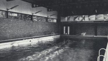 La piscine du Séminaire de Liège, dans les années 60.