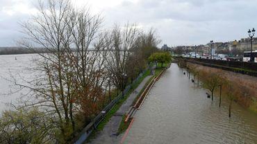 La Garonne en crue à Bordeaux, le 13 décembre 2019