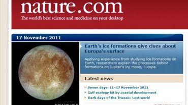 """Page d'accuiel du site de la revue """"Nature"""""""