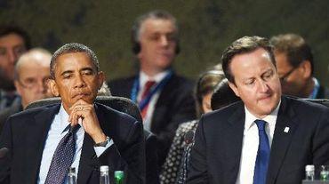 Le président Barack Obama et le Premier ministre britannique David Cameron lors du sommet de l'Otan le 5 septembre 2014 à New Port