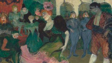 Marcelle Lender dansant le boléro dans Chilperic, par Henri de Toulouse Lautrec, 1895-1896