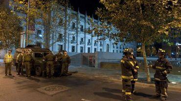 Illustration: des Chiliens sont sortis de chez eux après une secousse