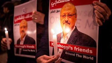 Une veillée en mémoire du journaliste Jamal Khashogghi à Istanbul le 25 octobre 2018