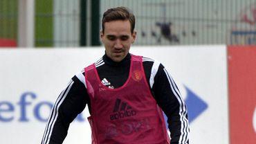 Sven Kums à l'entraînement des Diables Rouges.
