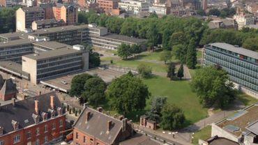 Le parc Depelsenaire jouxte le palais de justice de Charleroi