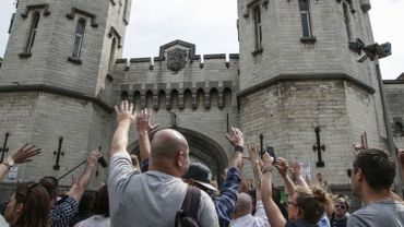 L'assemblée générale de la prison de Saint-Gilles s'est tenue devant l'établissement ce lundi.
