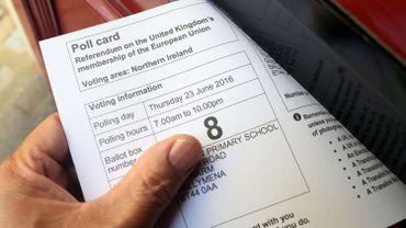 Une carte d'électeur pour le référendum sur le Brexit de ce jeudi 23 juin 2016