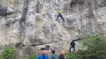 Wanze: 30 voies d'escalades ont été inaugurées aux rochers de Moha