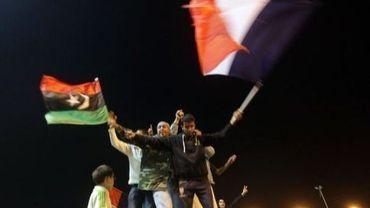 Explosion de joie dans la nuit du 17 au 18 mars 2011 à Benghazi