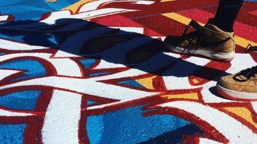 Une image de la nouvelle oeuvre street art du quartier Dansaert