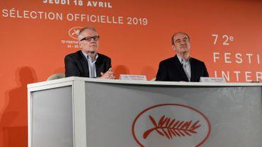 Thierry Fremaux (gauche) et Pierre Lescure (droite) ont présenté à la presse la sélection du prochain Festival de Cannes.
