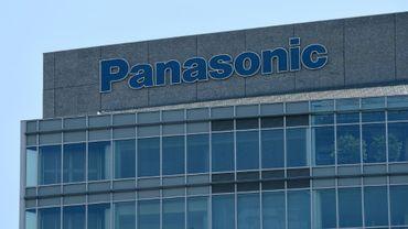 Logo du géant japonais de l'électronique Panasonic à son siège à Tokyo le 29 juillet 2016
