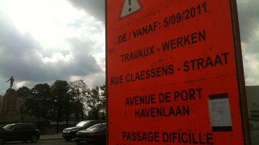 Dans la rue Claessens, un plan de circulation alternatif a été mis en place