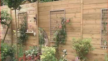 """Une palissage """"habillée"""" pour préserver l'intimité du jardin"""